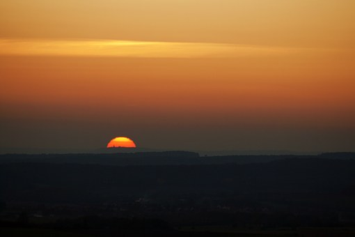 Sunrise, Sunset, Sun, Sky, Landscape, Morning