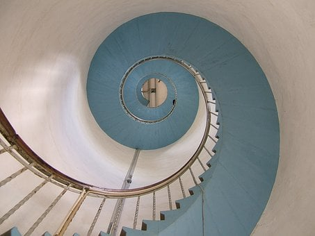 Lighthouse, Stairs, Snail, Emergence