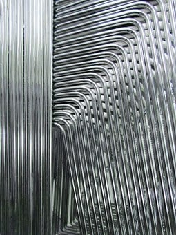 Abstract, Stacked Chairs, Metal, Silver, Chair, Design