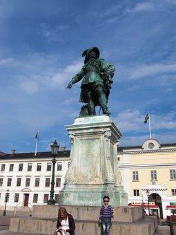 Gustav Adolf, Monument, Sweden, Gothenburg, Town Hall