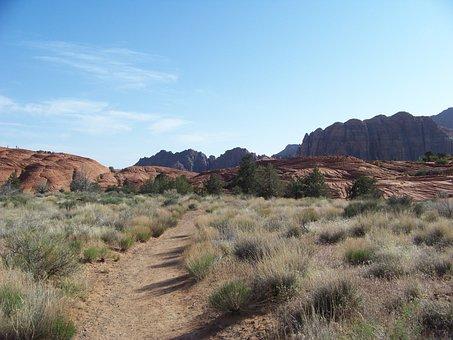 Snow Canyon, Climbing, Hiking, Mountain, Utah, Rock