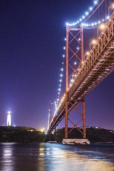 Bridge, Portugal, Lisbon, Old Town, Lisboa, View