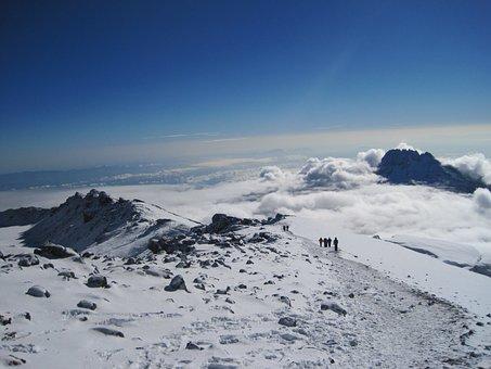 Kilimanjaro, Mount, Volcano, Volcanic, Peak, Mountain