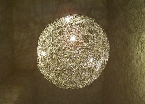 Wire Globe, Chandelier, Lighting Body