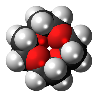 Crown, 4, 3d, Spacefill, Ether, Model, Molecule