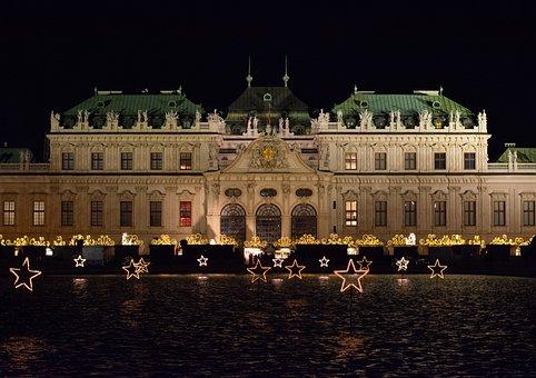 Christmas, Christmas Market, Vienna, Belvedere, Advent