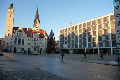 New, Old, Town Hall, Old House, Building