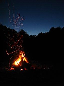 Fire, Night, Campfire, Camping, Burn, Hot