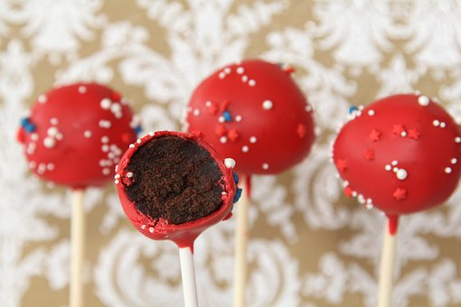 Cake Pops, Dessert, Sweets, Red, Chocolate, Cake
