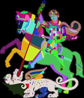 Animal, Art, Beast, Chromatic, Colorful, Dragon, Horse