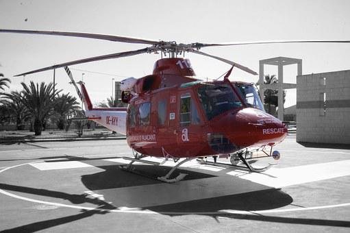 Fire, Helicopter, Elche Alicante