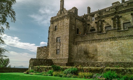 Scotland, Sterling Castle, Castle, Green, Flowers