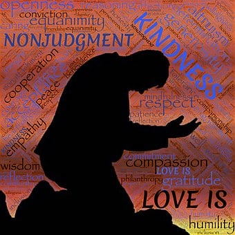 Holiness, Love, Silhouette, Kneeling, Kindness