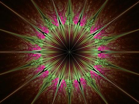 Julian Star, Star, Fun, Green, Violet, Julian, Abstract