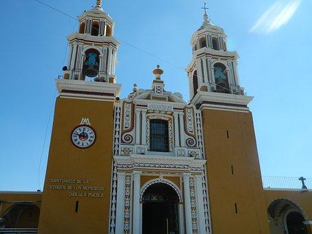 Cholula, Puebla, Mexico, Church, Tourism, Culture