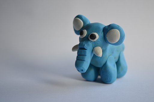 Elephant, Plasticine, Model, Animal, Background, Macro