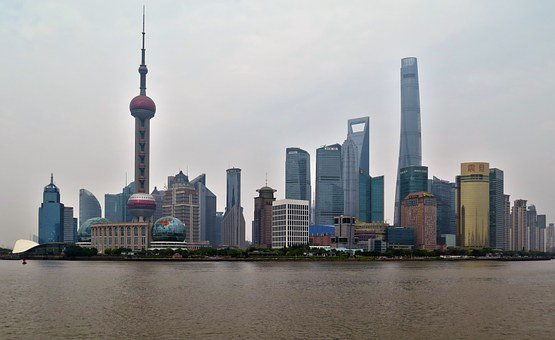 Shanghai, Skyline, City, Architecture, Asia