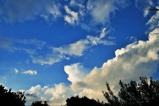 Spreading Cloud, Sky, Blue, Cloud, White, Spreading