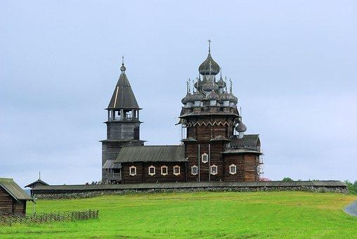 Russia, Karelia, Church, Wood Construction