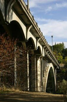 Bridge, Fall, Folsom, California, Rainbow Bridge