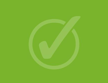 Checked, Green, Right, Circle, Correct, Tick, Checklist