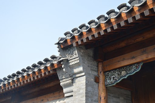Roof, Wadang, Building, Traditional, Decoration, China