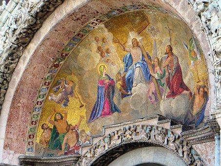 Venice, Basilica San Marco, Mosaic, Eardrum