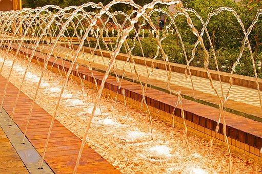 Fountain, Water Games, Water, Wet, Flow, Water Jet