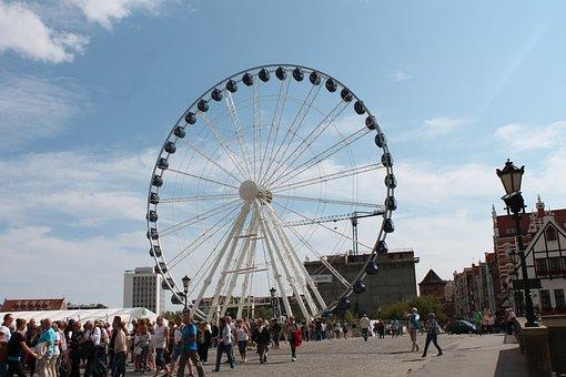 Lunapark, Gdańsk, Wheel, Attraction, Holidays