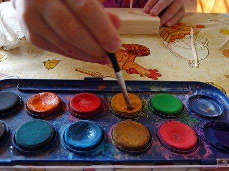 Paint Kit, Colors, Decoration, Paint Brush, Hobby
