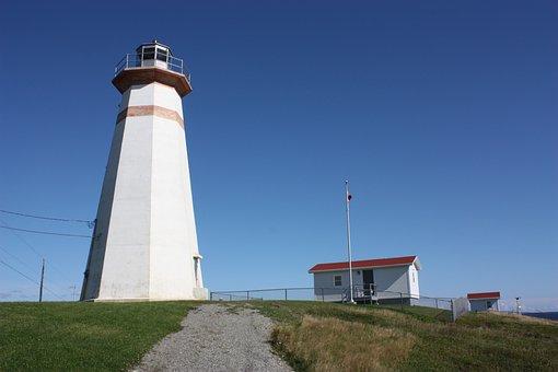 Lighthouse, Cape Ray Lighthouse, Newfoundland, Canada