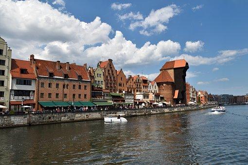 Gdańsk, Crane, Long Seashore, Motlawa