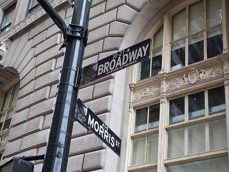 Broadway, Street Sign, New York City, Manhattan, Ny