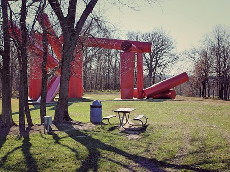 Sculpture, Shadow, Trees, Out Doors, Art