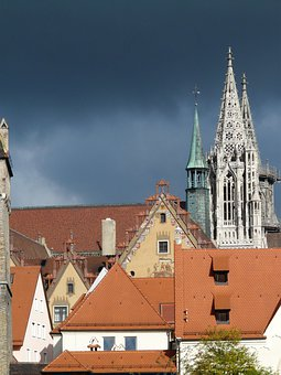 City, Building, Roofs, Roof, Architecture, Old Town