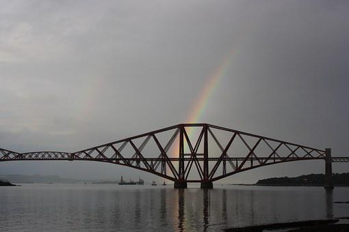 Bridge, Scotland, Rainbow, Scottish, Landmark