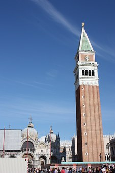 San Marco Square, Venice, Tower, Plaza, Italy, Culture