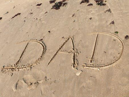 Father, Sand, Text, Word, Mail, Writing