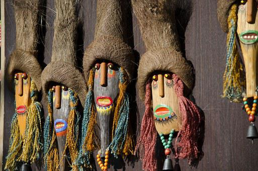 Masks, China, Yunnan, Nakhi People, Asia, Culture, Art