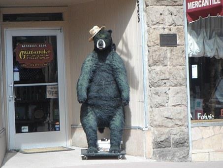 Bear Statue, Street, City, Sculpture, Tourism, Landmark