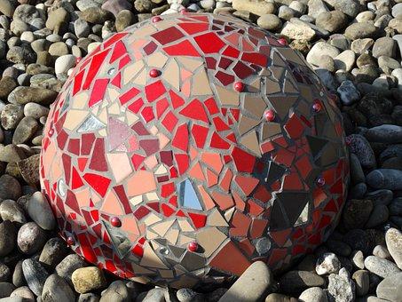 Ceramic, Ball, Unlasiert, Reddish