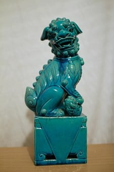 Foo Lion, Chinese, Superstition, Foo Dog, Turquoise