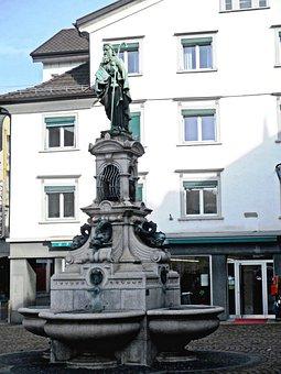 Fountain, Jacob's Well, Sculpture, Town Center