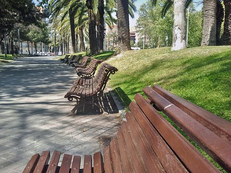 Park Bench, Park, Bench, Seat, Grass, Outdoor, Nature