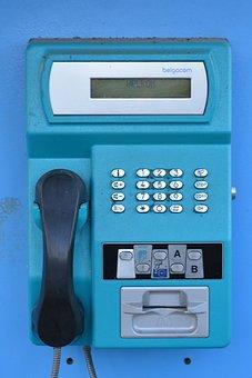 Telephone, Pay Telephone, Horn, Keys, Blue