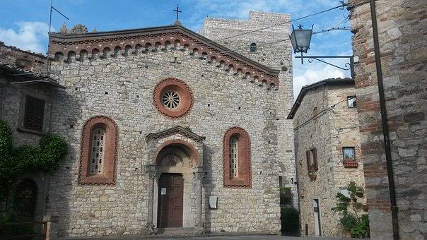 Church, Vertine, Chianti, Italy, History