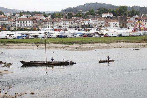 Rio Lima, Boat, Minho, Portugal, Destination, River