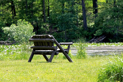 Bench, Wooden Bench, Lakeside, Seat, Relax, Peaceful