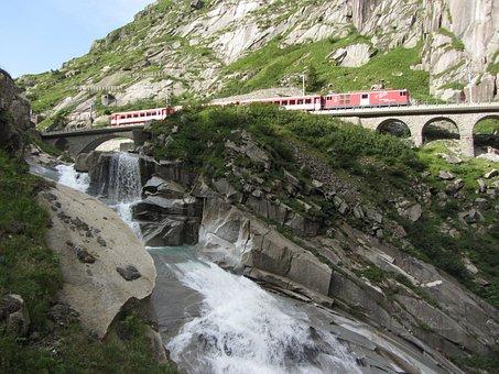 Schöllenen Gorge, Gotthard, Switzerland, Alpine, Pass