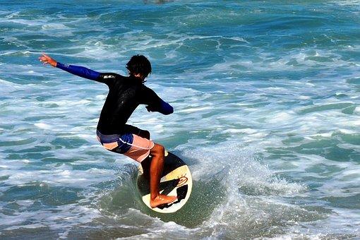 Surf, Beach, Waves, Sea, Tablista, Shore